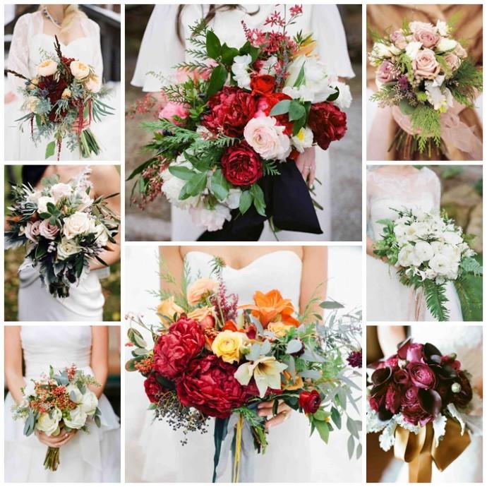 bouquets de mariee en hiver