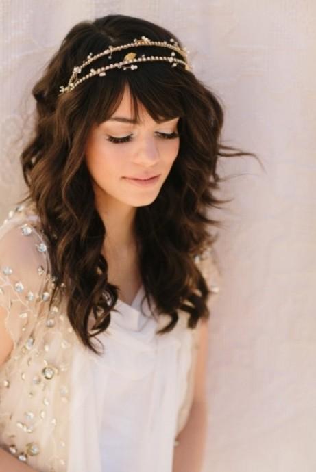 coiffure avecune frange pour mariee (2)