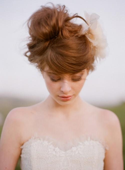 coiffure avecune frange pour mariee (3)