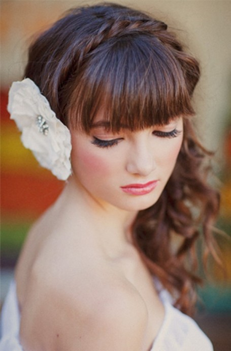 coiffure mariee avec frange