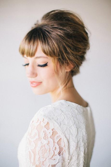 coiffure avecune frange pour mariee (6)