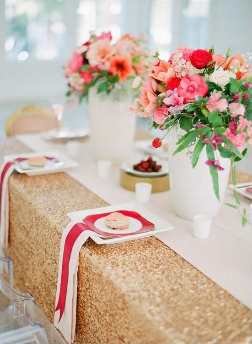 decoration de mariage couleur metallique (1)