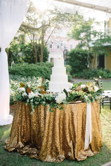 decoration de mariage couleur metallique (2)