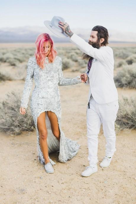 la mariee aux cheveux roses