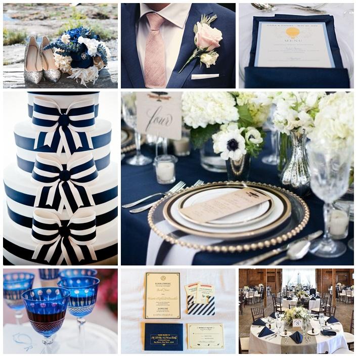 mariage couleur bleu marine