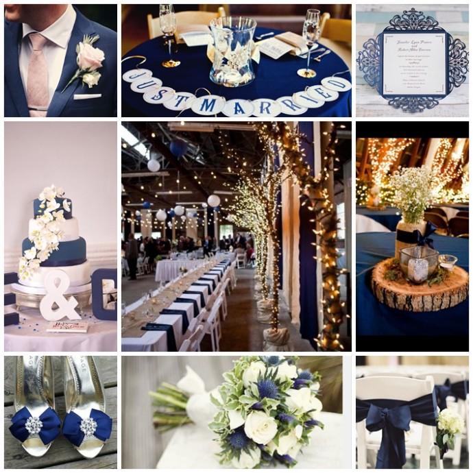 Mon mariage couleur bleu marine for Deco bleu marine et blanc