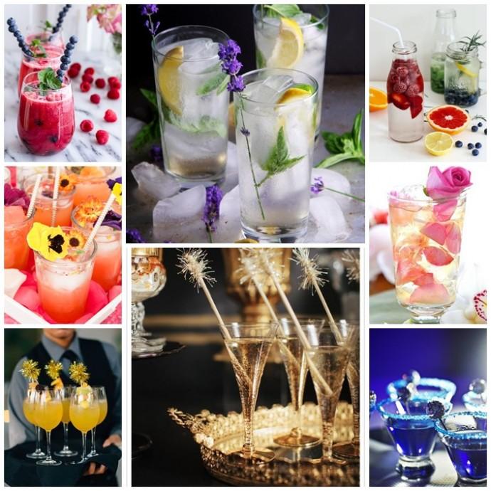 mise en scene de cocktails