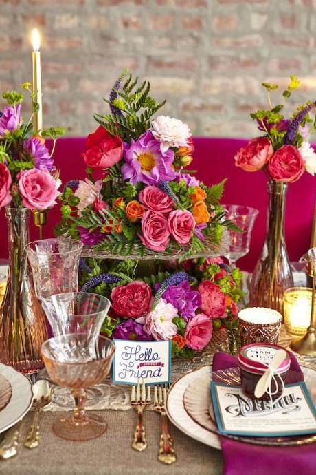 mon mariage colore et rose