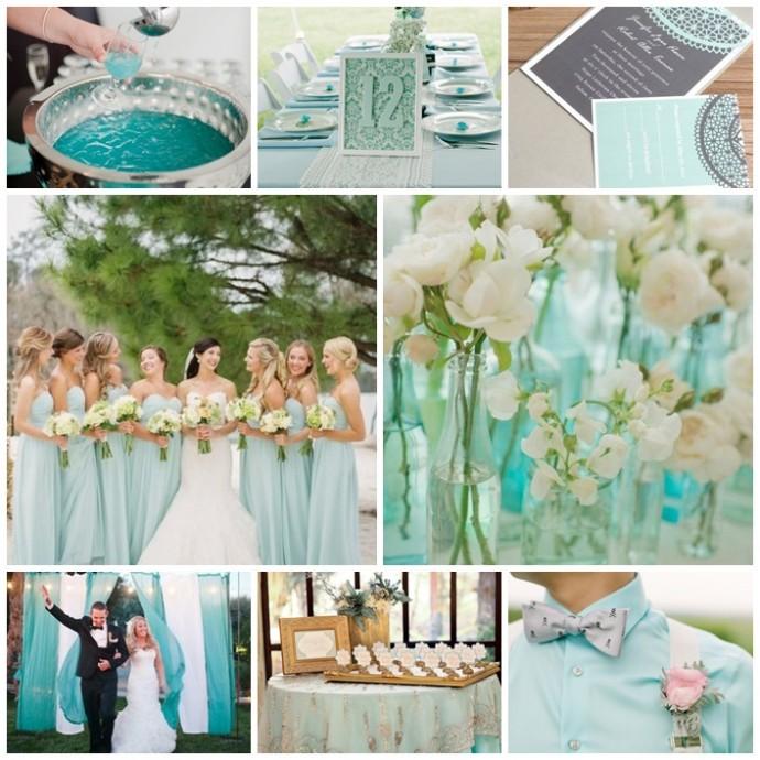 planche bleu aqua mariage