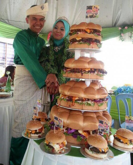 wedding cake burger