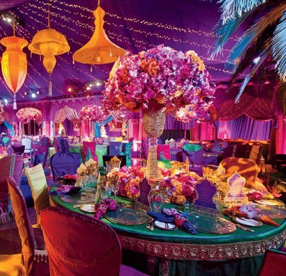 Mon mariage esprit mille et une nuits for Arab wedding decoration ideas