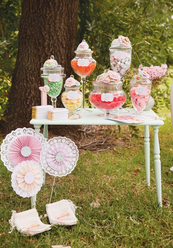 Le candy bar de la garden party