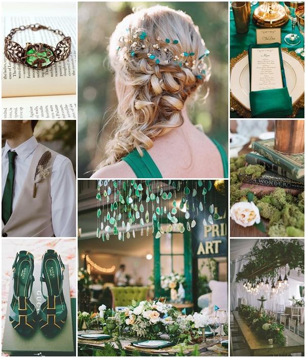 Un mariage vert meraude en communion avec la nature - Mariage de couleur avec le vert ...