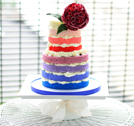 Naked cake arc en ciel