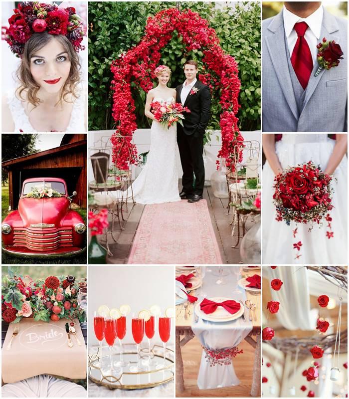 Planche d'inspiration mon mariage rouge