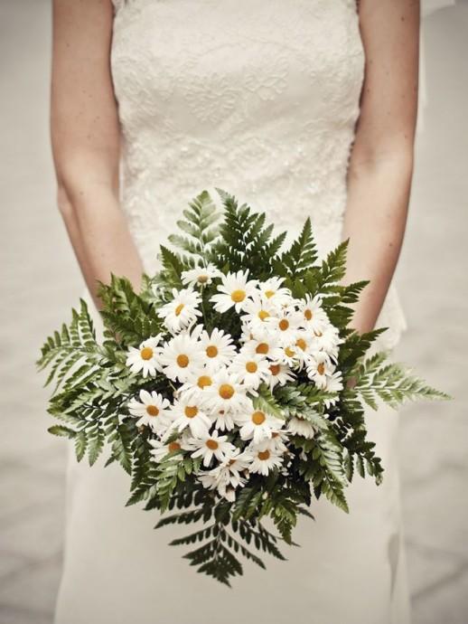 La simplicité des marguerites est toujours de bonne augure pour une mariage sous le signe du printemps