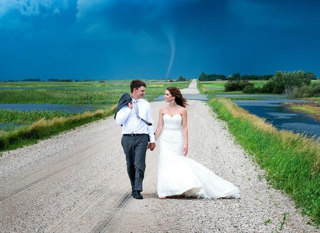 mariage sous une tornade