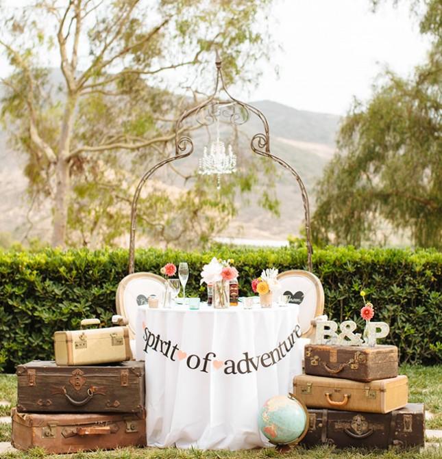 12 id es de d coration pour faire le tour du monde votre mariage. Black Bedroom Furniture Sets. Home Design Ideas