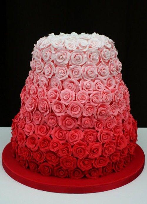 ombre wedding cake pour un mariage degrade (4)