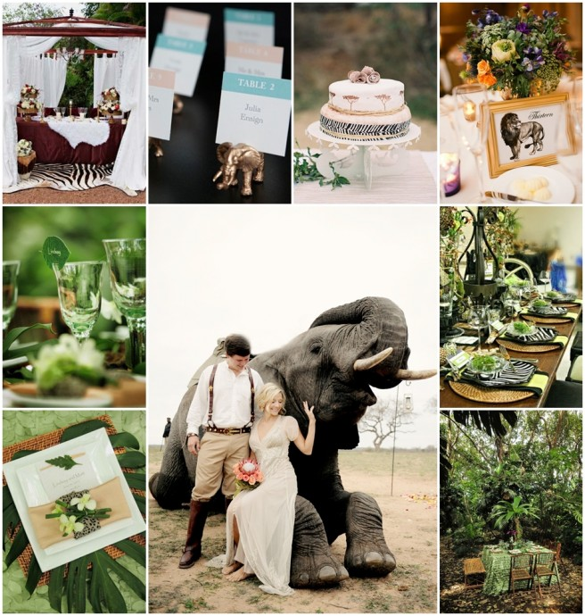 planche d'inspiration mariage jungle