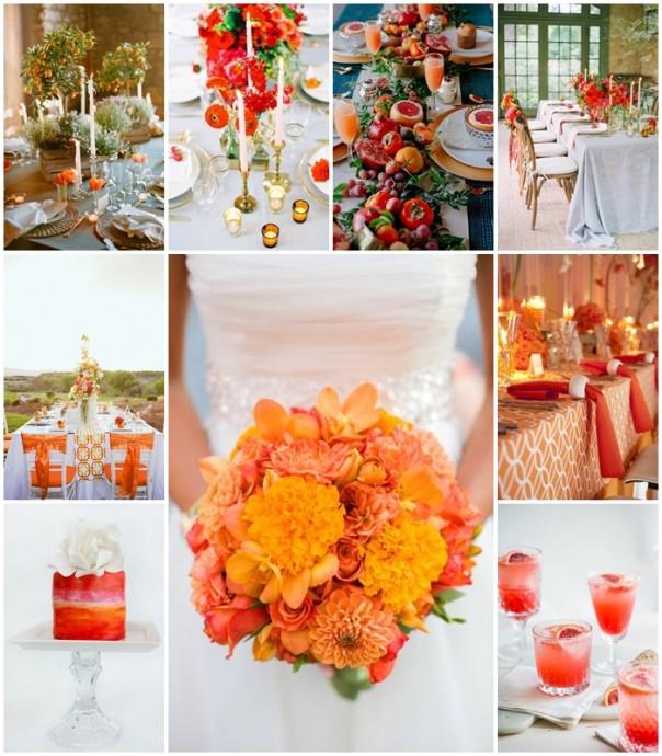 planche-inspiration-mariage orange sanguine