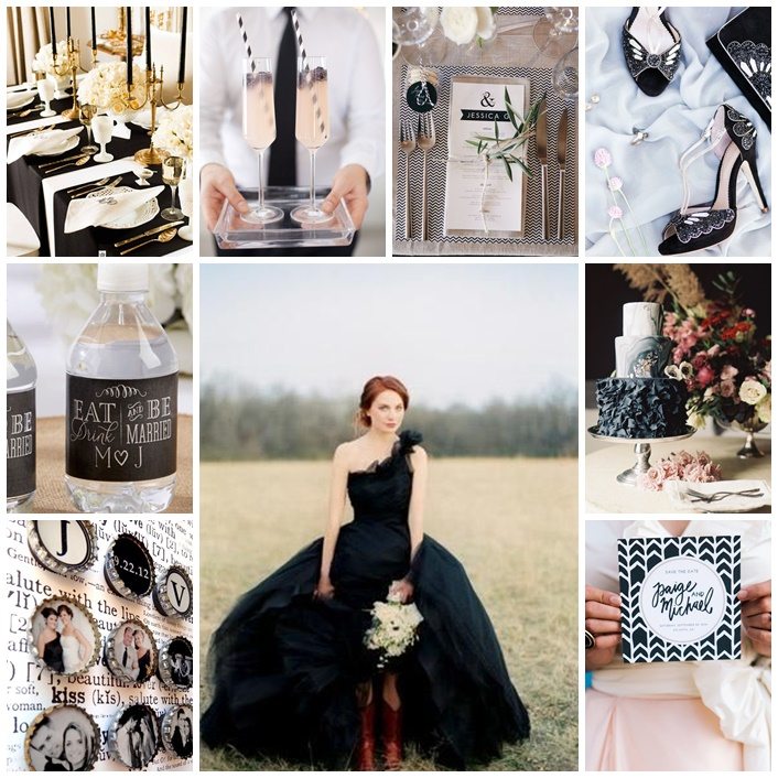 planche mariage black and white