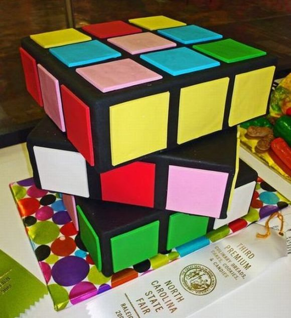 rubik's cube wedding cake