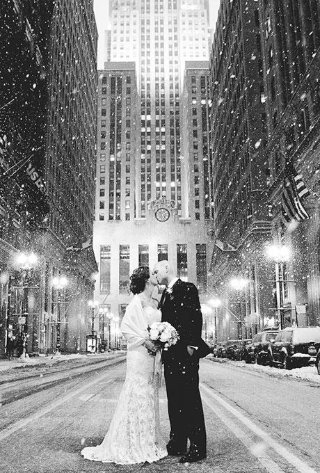 se marier sous la neige