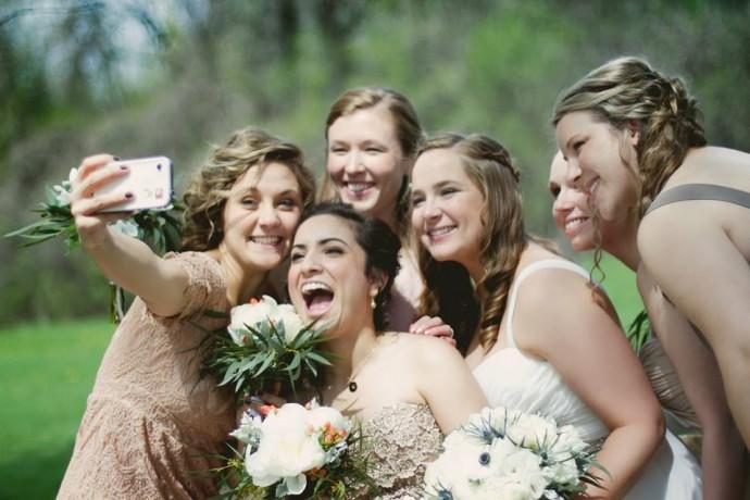 selfie au mariage