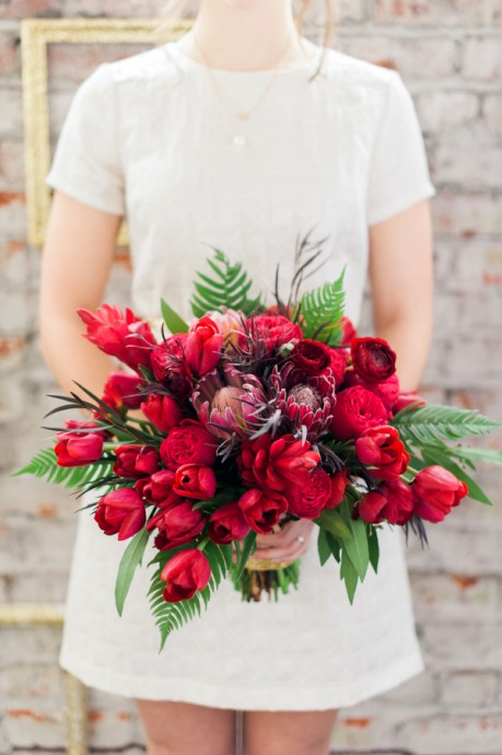 bouquet mariee rouge tulipes couleurs st valentin inspiration