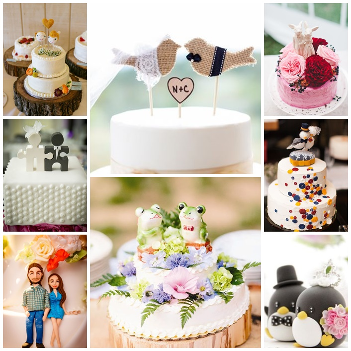 cake toppers de mariage