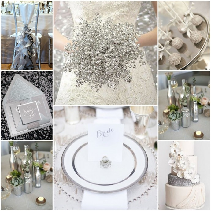 montage inspiration argent mariage