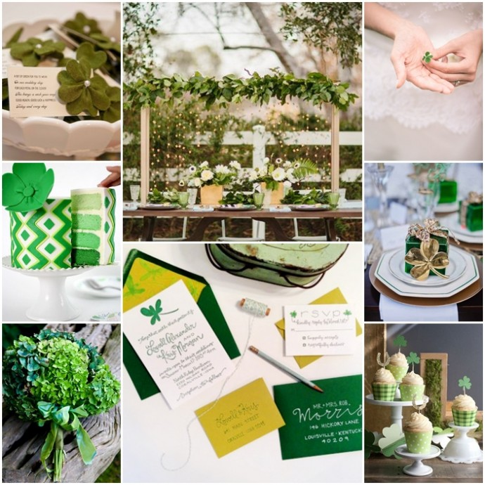 montage st patrick inspiration mariage