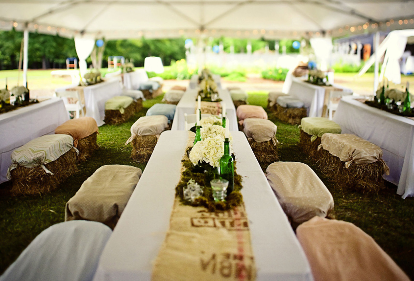 13 d corations champ tres qui ne vous mettront pas sur la for Cheap wedding canape ideas