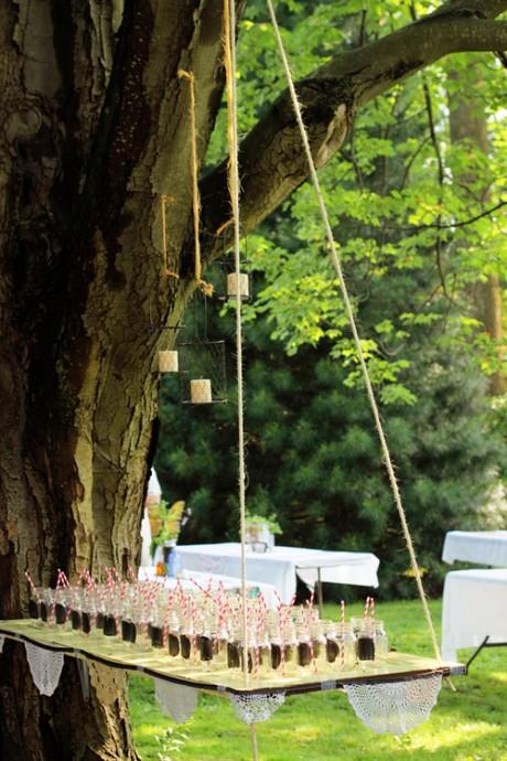 boisson reception mariage jardin collation