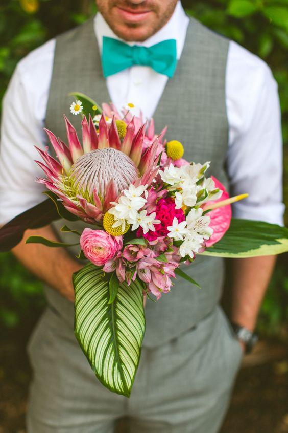 10 bouquets tropicaux pour accompagner une jolie mari e for Bouquet exotique