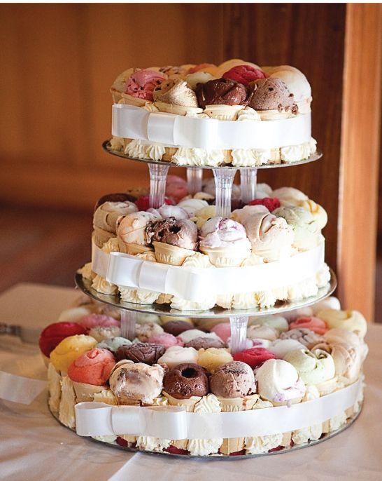 buffet de presentation cornets de glaces mariage
