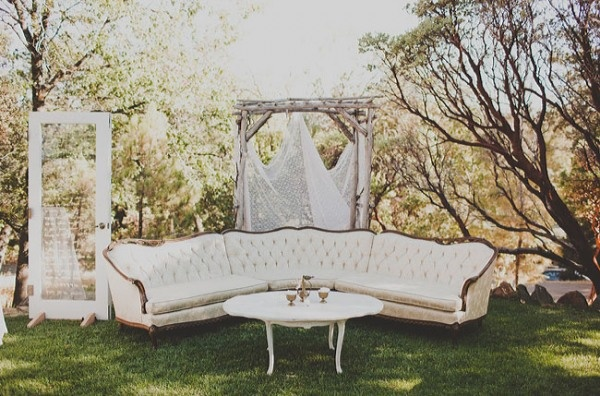 canapes vintage jardin idee mariage