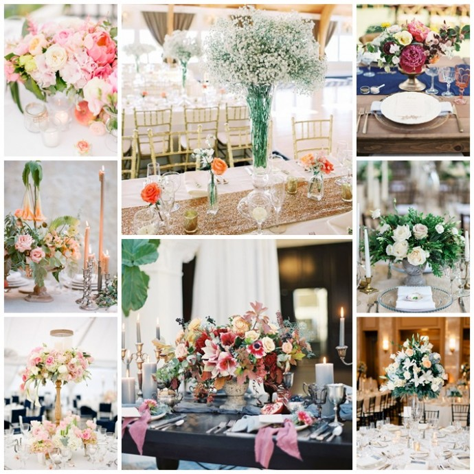 decoration fleurie table mariage