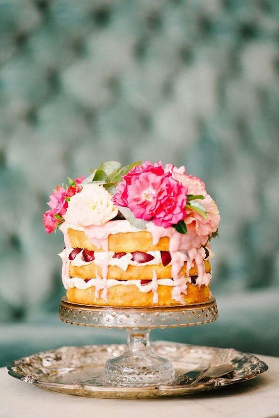 drip cake rose gauffre