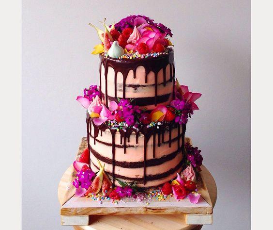 drip cake rose