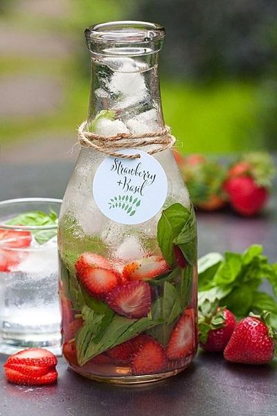eau-fraise-basilic-mariage