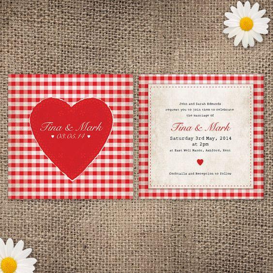 invitation-vichy-mariage-fraise