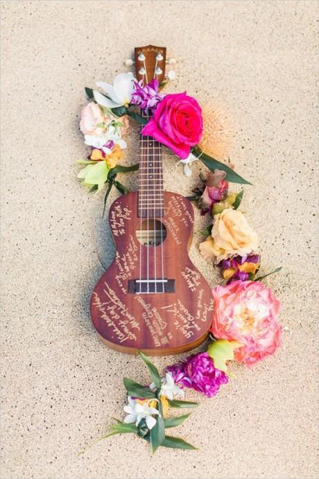 livre d'or guitare pour mariage inspiration animation
