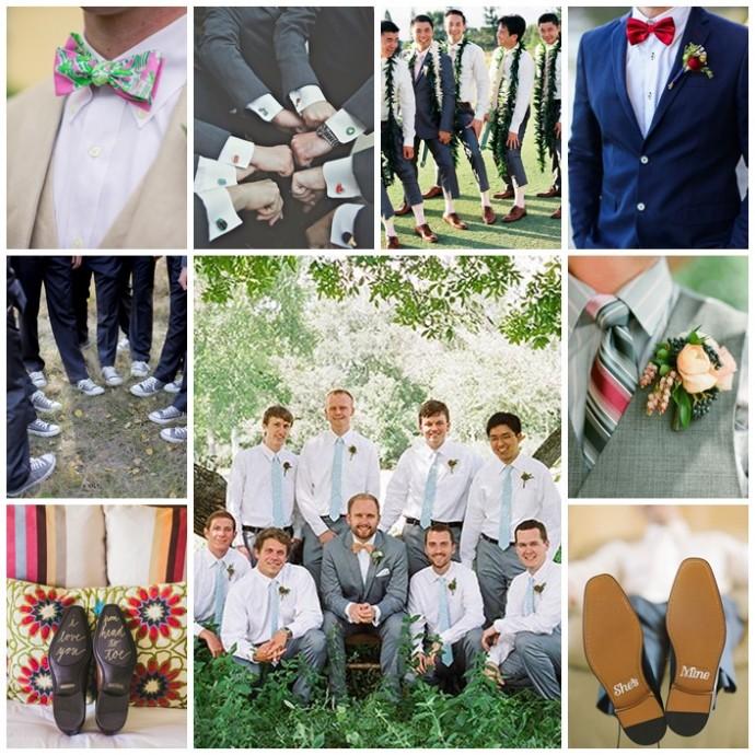 mariage garcon honneur tenue maries
