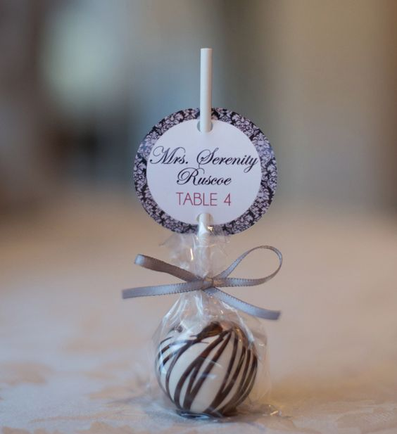 10 marques places en accord avec un mariage tr s gourmand - Marque place mariage ...