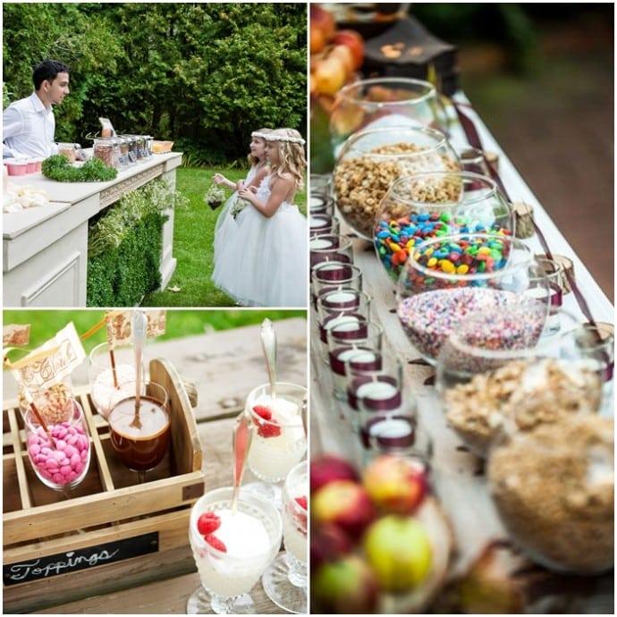 montage buffet pour se servir glaces mariage