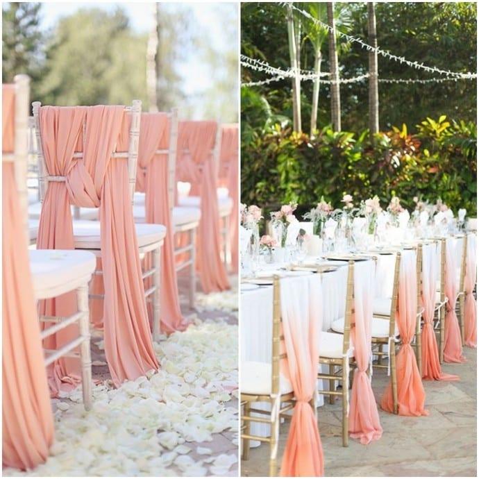 montage presentation des chaises pour ceremonie et table couleur pastel