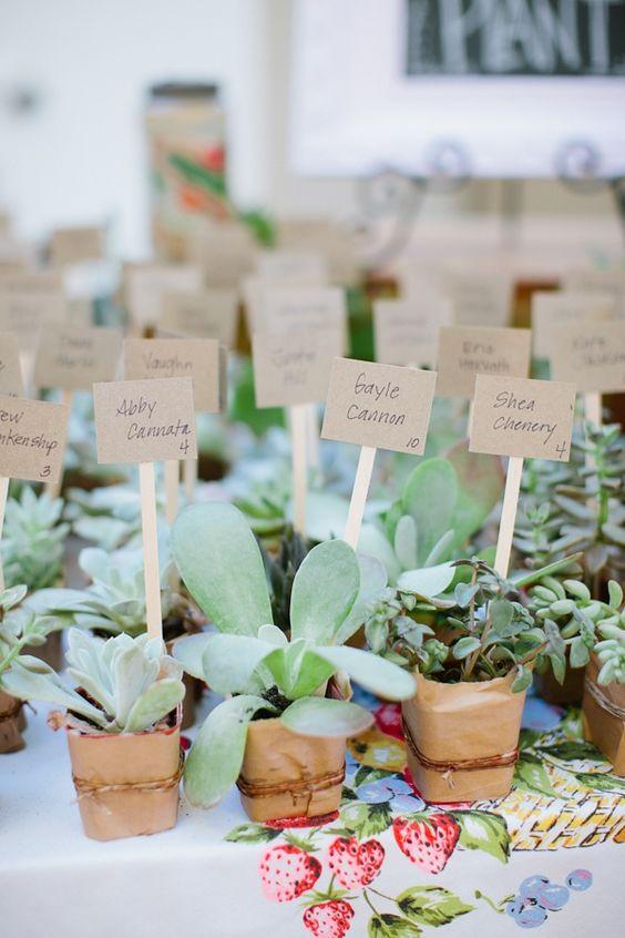 10 idées de marques-places-mariage-plantes