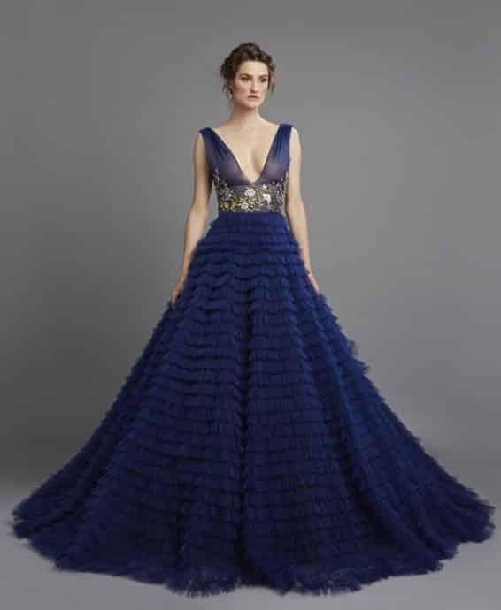 robe de mariee bleue hamda al fahim